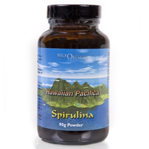 Hawaiian Spirulina Pacifica Powder-Glass